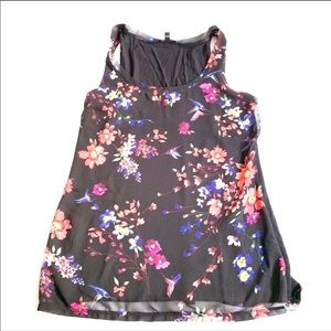 Express floral black tank small